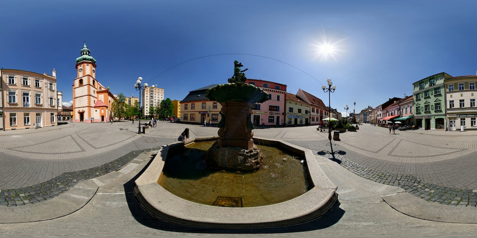 Jubilee Fountain And The Church Of Saint James The Great